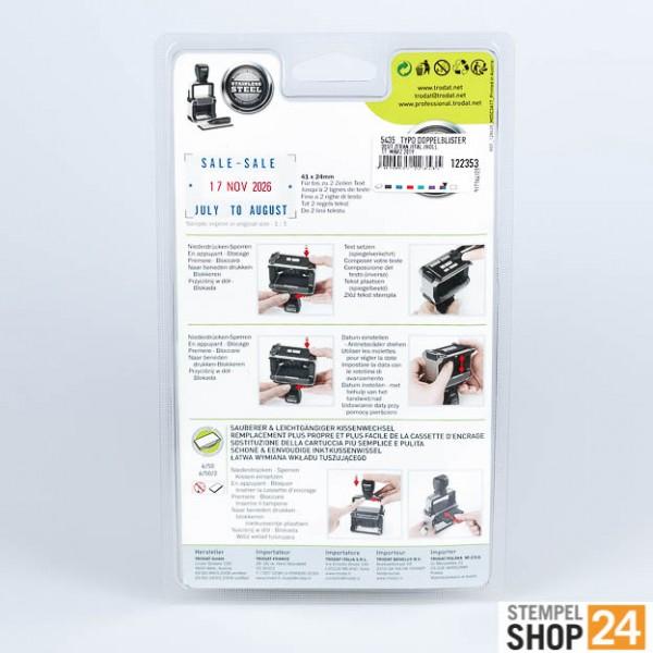 original trodat 5435 stempel zum selbersetzen g nstig kaufen morgen geliefert. Black Bedroom Furniture Sets. Home Design Ideas
